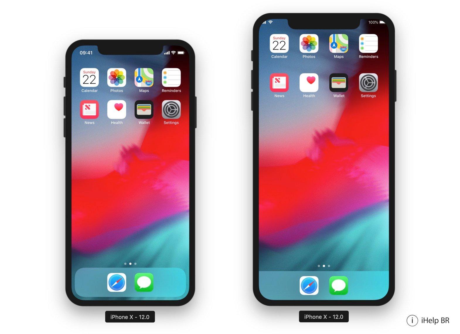 La définition supposée de l'iPhone X «Plus» est déjà largement supportée dans iOS 12 : captures 1