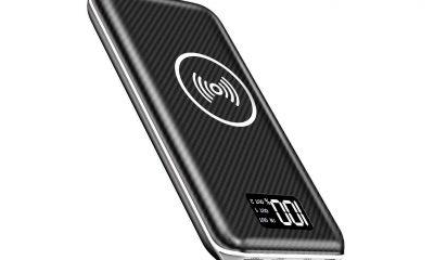 Promo flash : batterie grande capacité (24 000 mAh), recharge induction Qi, entrée Lightning et indicateur numérique de charge 4