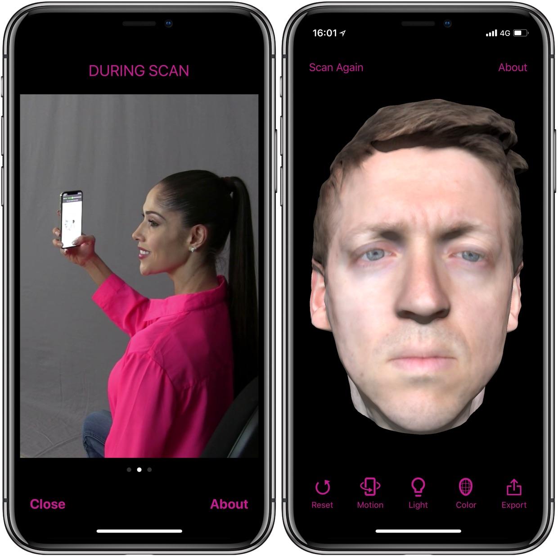 La modélisation 3D de son visage à portée d'iPhone X avec l'app