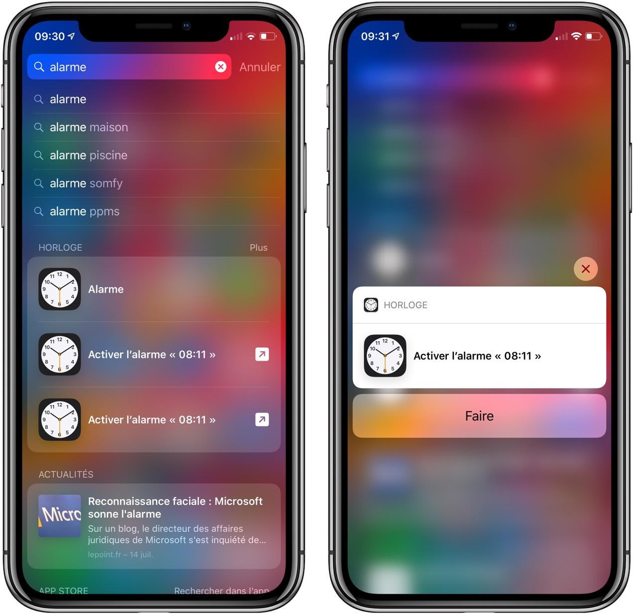 "Astuce iOS 12 : comment programmer un de ses réveils habituels rapidement avec la recherche ""Spotlight"" 1"