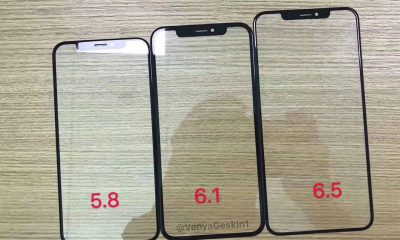Photo : des protections-écrans pour la gamme d'iPhone X 2018 confirment la spécificité du modèle LCD d'entrée de gamme 31