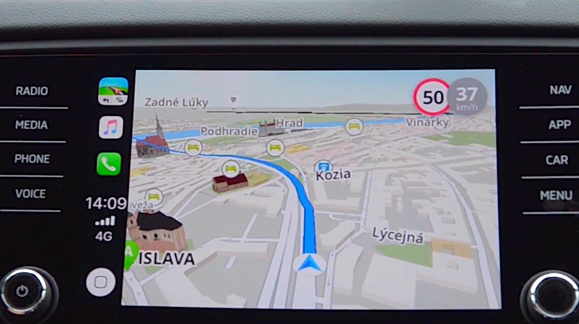 Sygic montre son guidage GPS compatible CarPlay en vidéo 1