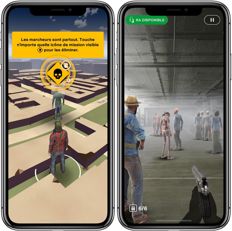 """Les zombies de """"The Walking Dead: Our World"""" débarquent sur iPhone façon Pokémon GO 1"""