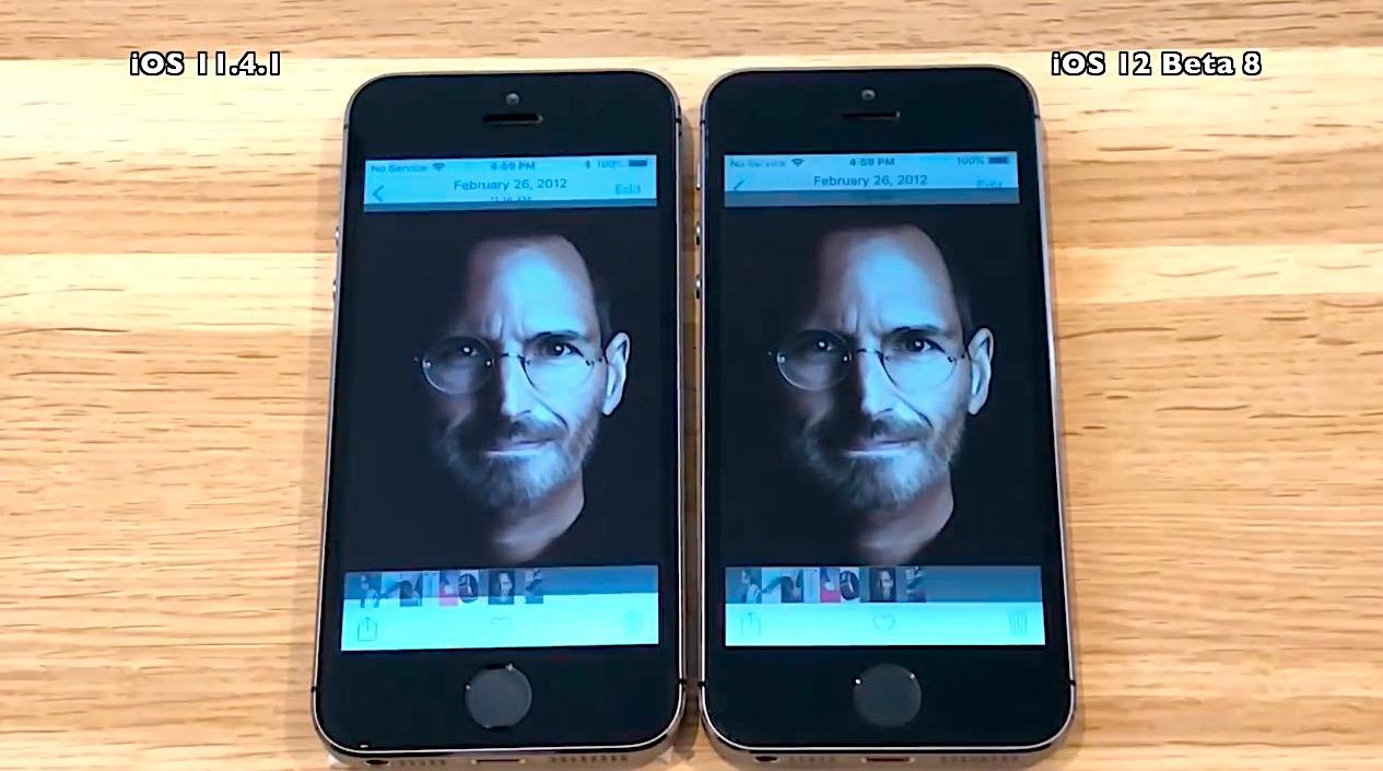 iOS 12 bêta 8 sur iPhone 5s et iPhone 7 : les performances comparées à iOS 11.4.1 en vidéo 1
