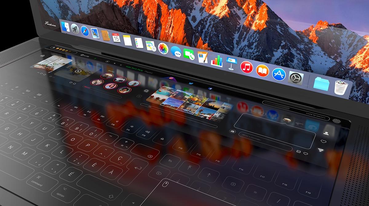 Immense zone visuelle tactile et trackpad latéral : un designer livre son concept de MacBook Pro (vidéo) 1
