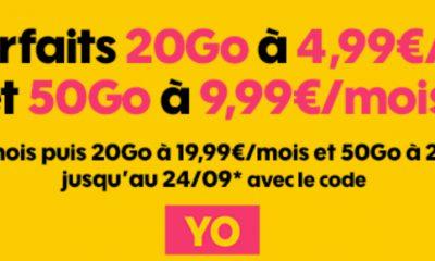 Dernier jour promos forfaits Sosh : 20 Go + illimité à 4,99 € et 50 Go à 9,99 € mensuels 5