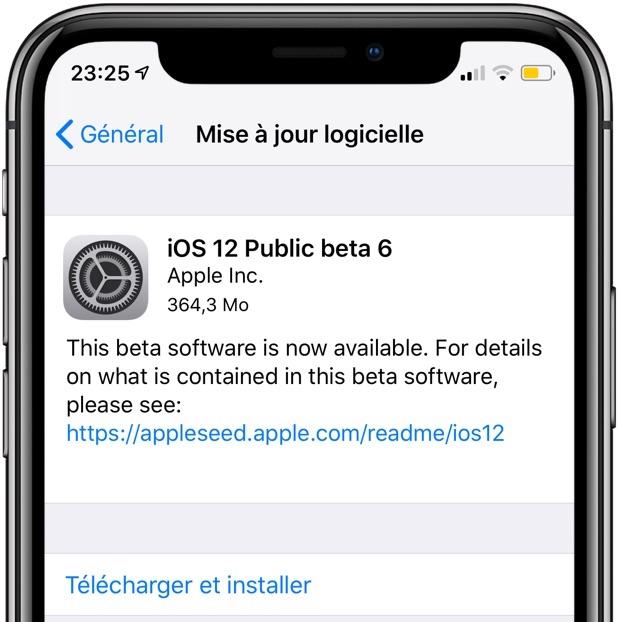 Apple sort iOS 12 Beta 6 publique pour iPhone et iPad : quels changements ? 1