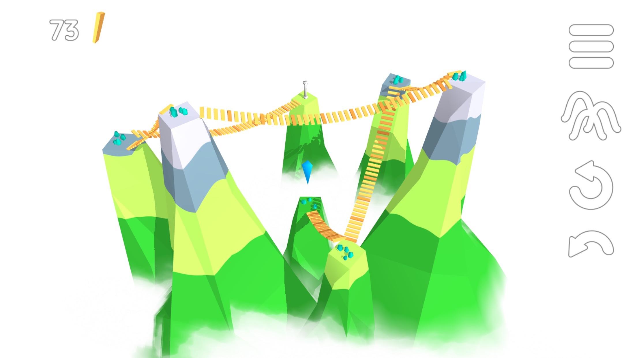 La tête au-dessus des montagnes, résolvez les casse-têtes malins de Summit Way, nouveau jeu iPhone, iPad 1