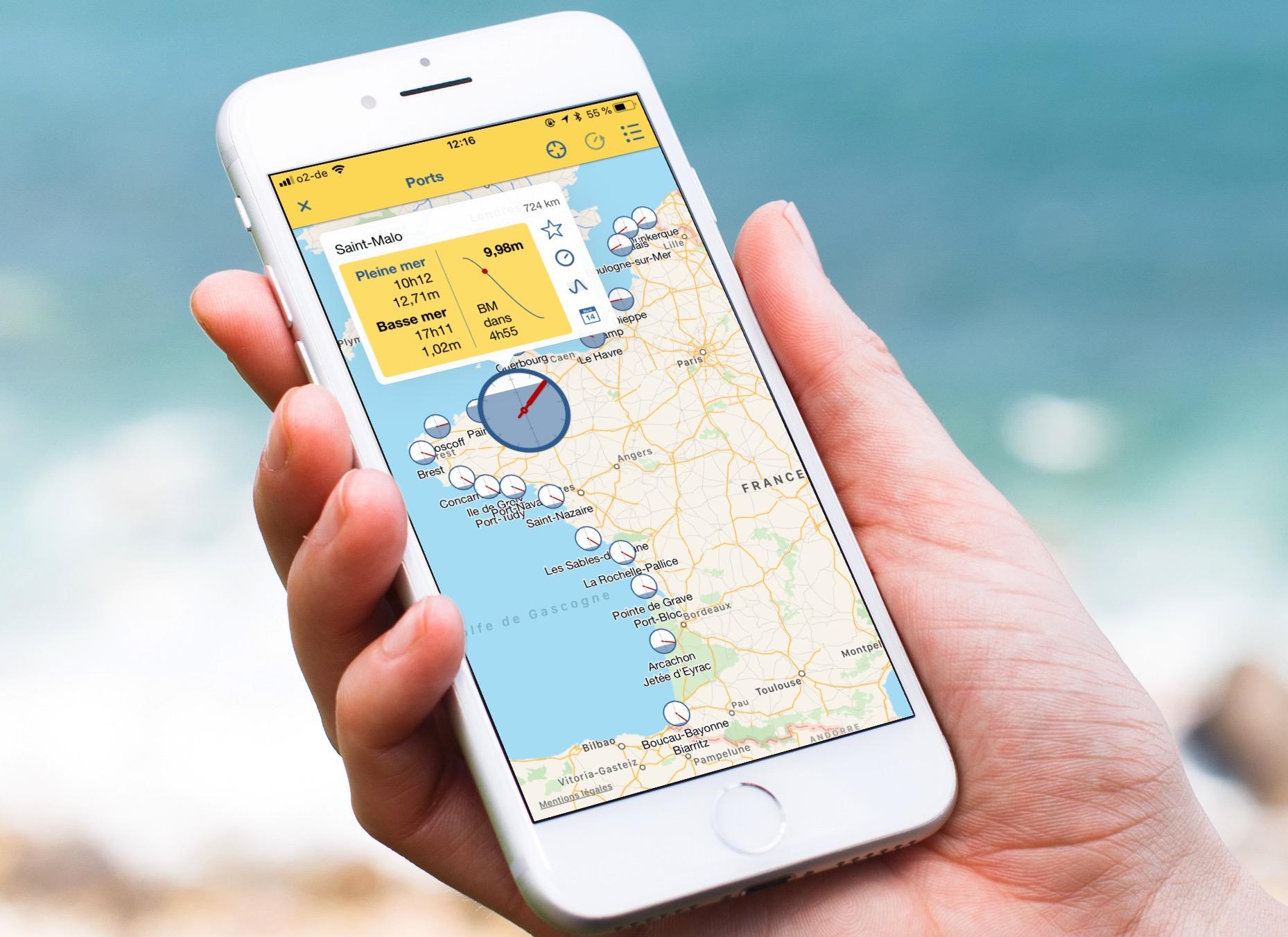 Vacances en apps #23 : une app iPhone pour tout savoir sur les marées en France 1