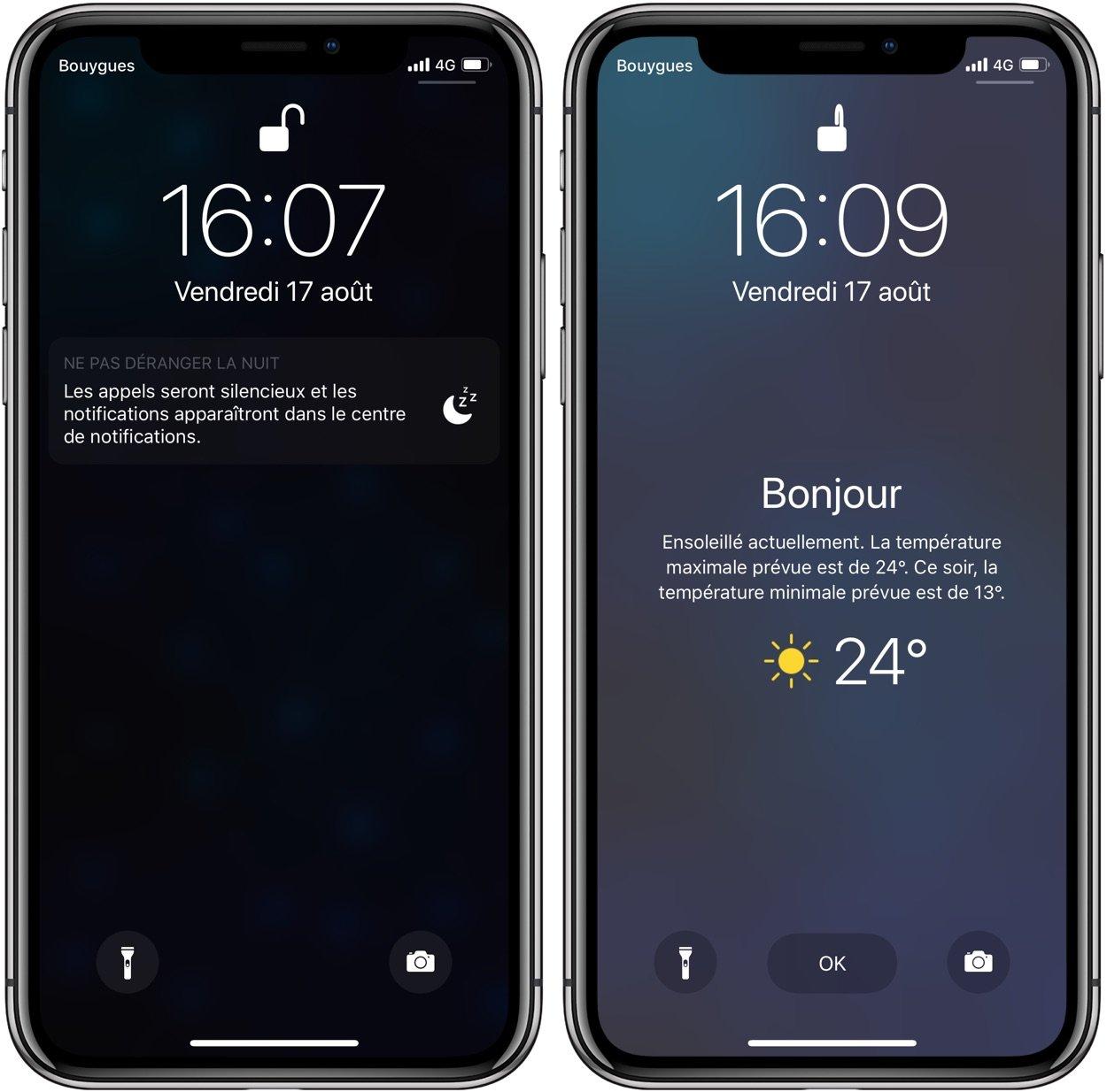 localisation meteo iphone 8 Plus