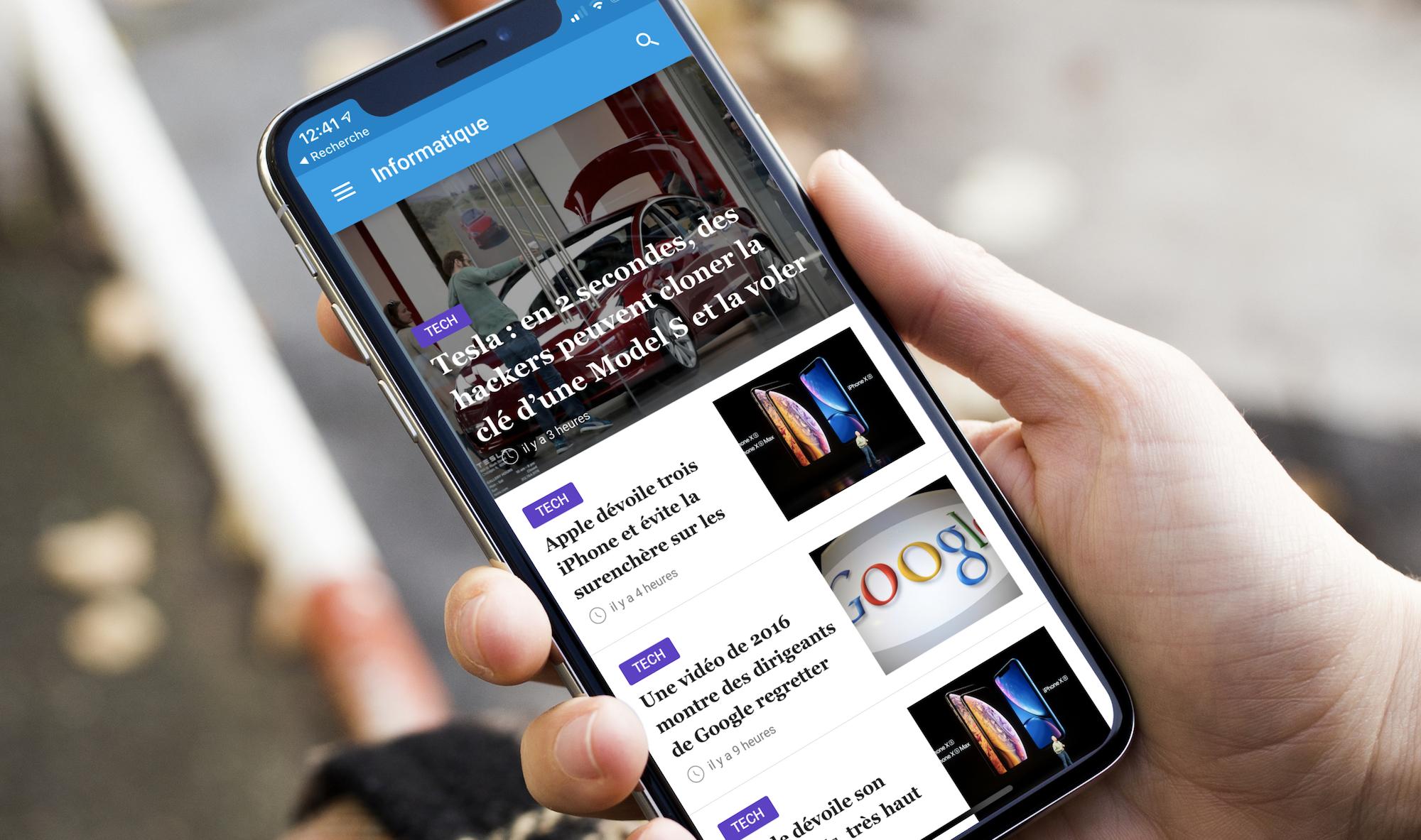 """Nouvelle app d'info en continu : """"24matins"""" iPhone vous fait gagner un iPhone XS, découvrez comment participer ! 1"""