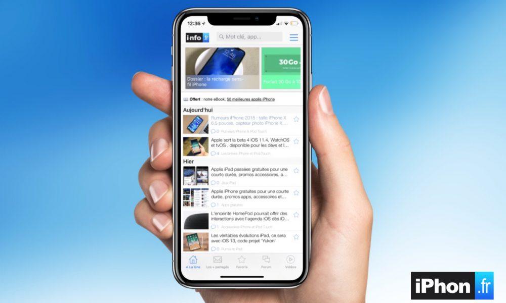 La mise à jour de notre app i-nfo.fr iOS 12/iPhone X est disponible 1