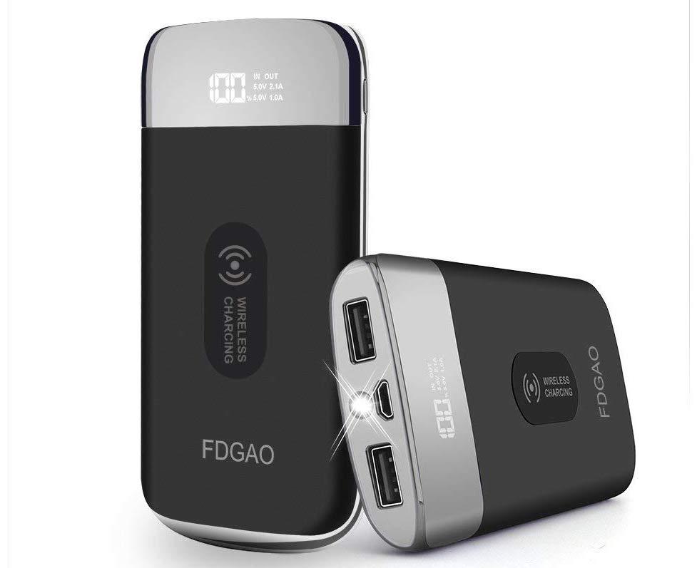 Terminée - Promo flash courte : élégante batterie 10 000 mAh, recharge induction Qi et indicateur numérique de charge à moins de 16 euros ! 1