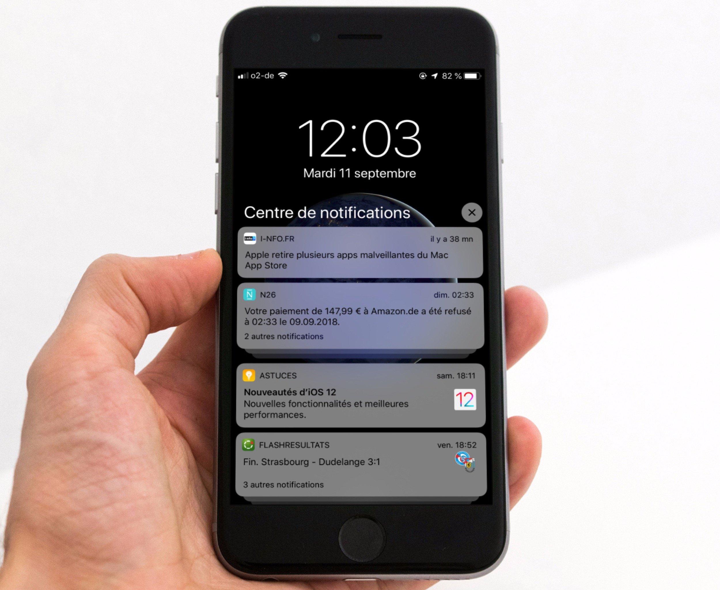 Tout ce qui change pour les notifications avec iOS 12 (MàJ ajout vidéo) 1