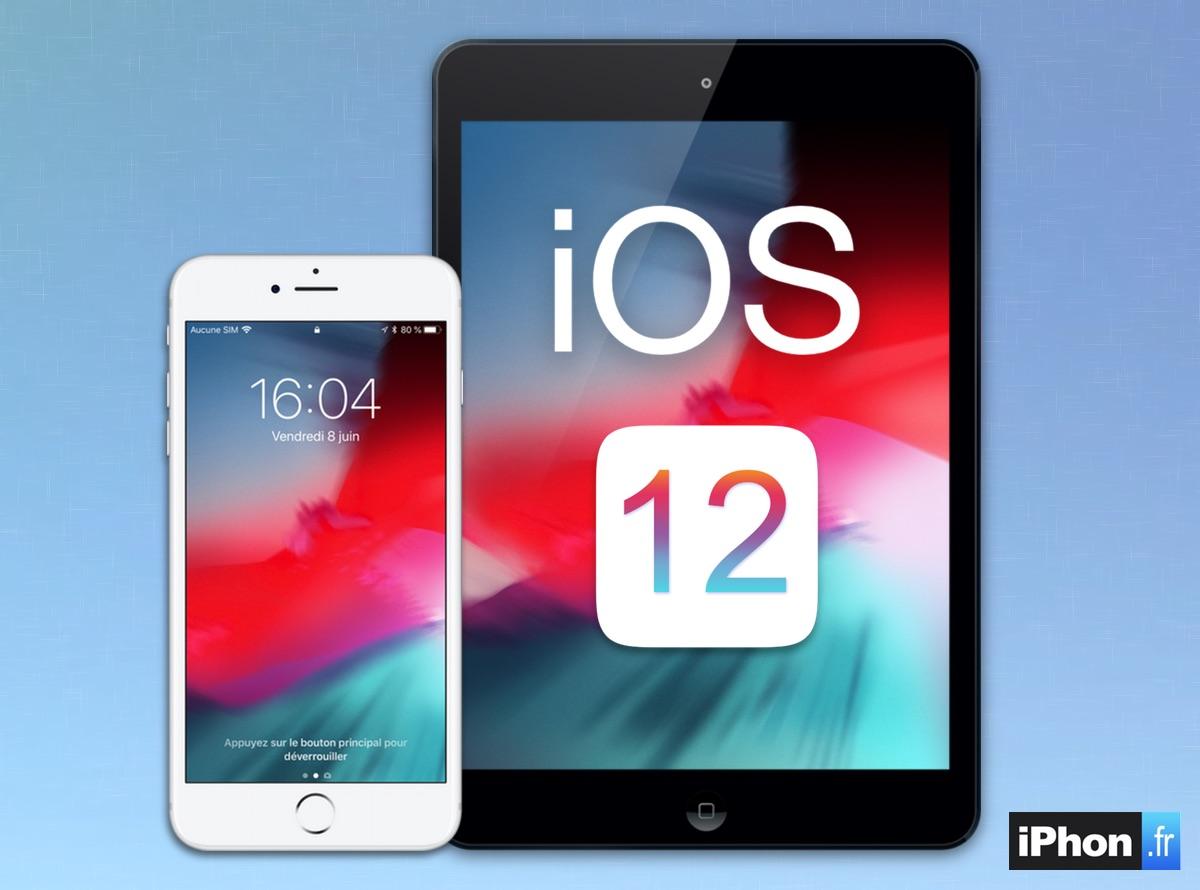 iOS 12 plus rapide que iOS 11 et que iOS 10 sur certains iPhone et iPad anciens 1
