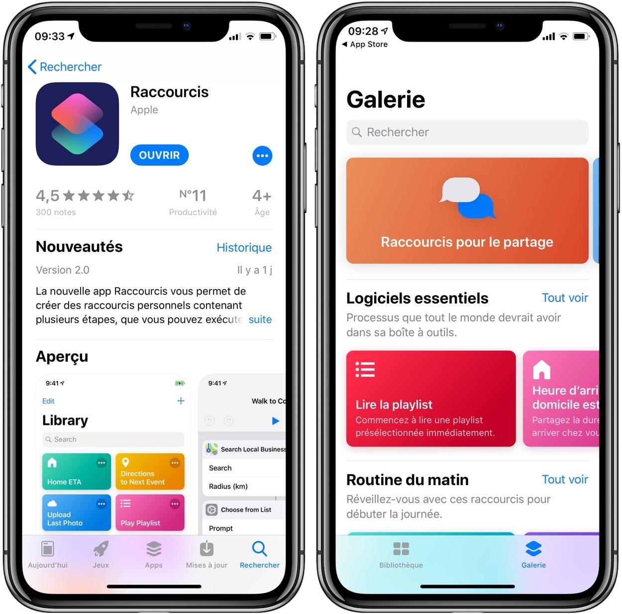 L'appli Raccourcis d'iOS 12 est disponible sur l'app Store : elle importe les workflows 1