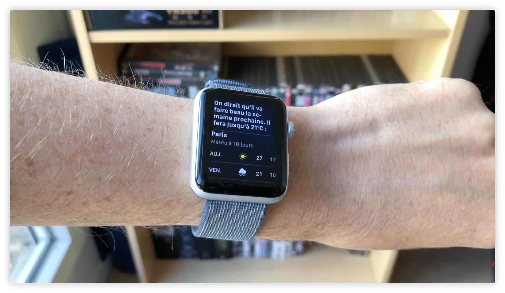 Tuto et vidéo Apple Watch : comment parler directement à Siri en levant le poignet (watchOS 5) 1