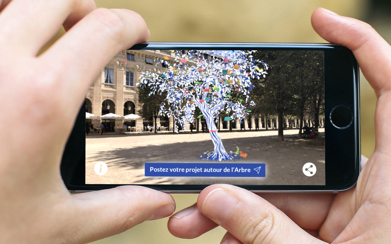 Dernières heures - L'Arbre à Projets : 5 x 3000 euros à gagner avec un arbre en Réalité Augmentée à faire pousser chez soi sur iPhone, iPad et Android 1