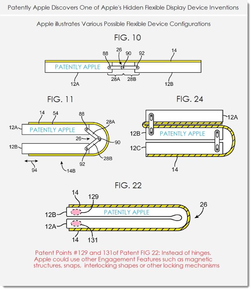 Jusqu'à trois parties mobiles pour le nouveau brevet d'iPhone pliable signé Apple 1
