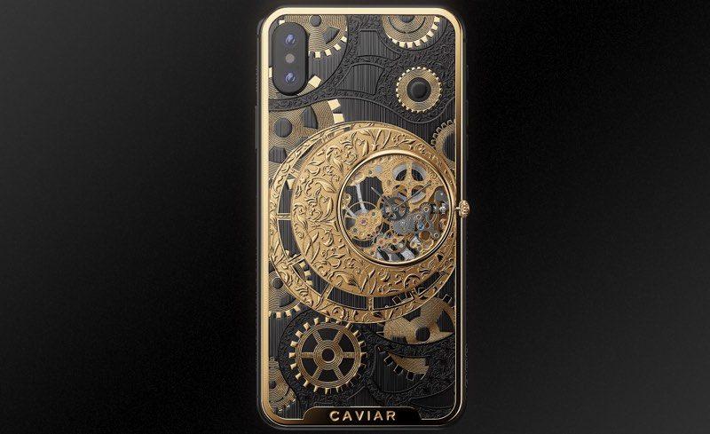 L'iPhone XS à 5500 euros intègre une montre mécanique au dos ! 1