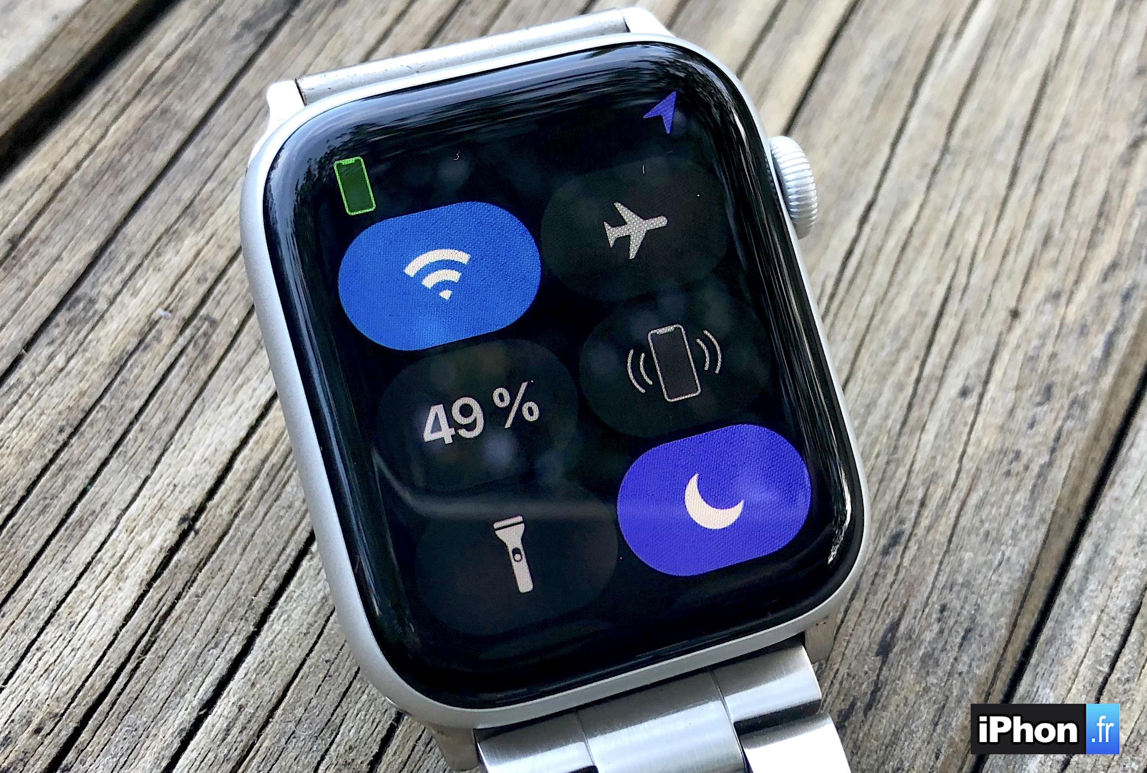 Apple Watch : découvrez les possibilités et nouveautés du centre de contrôle version watchOS 5 1
