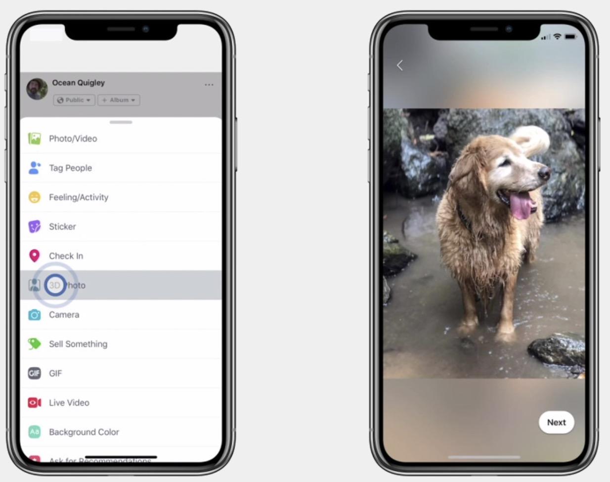 Les photos iPhone avec profondeur de champ s'animent sur Facebook 1