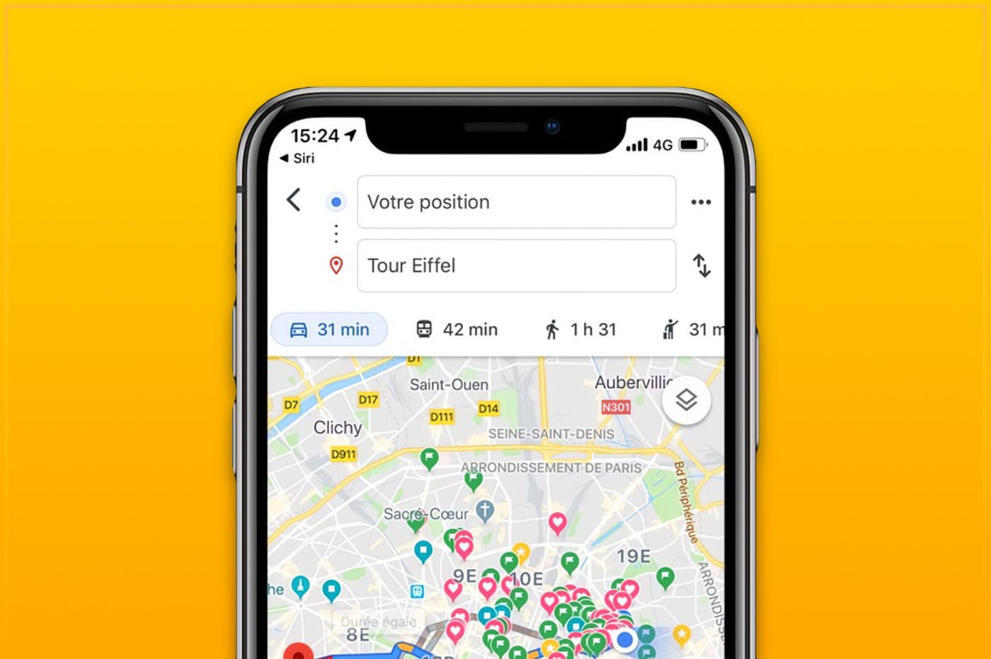 Google Maps sur iOS