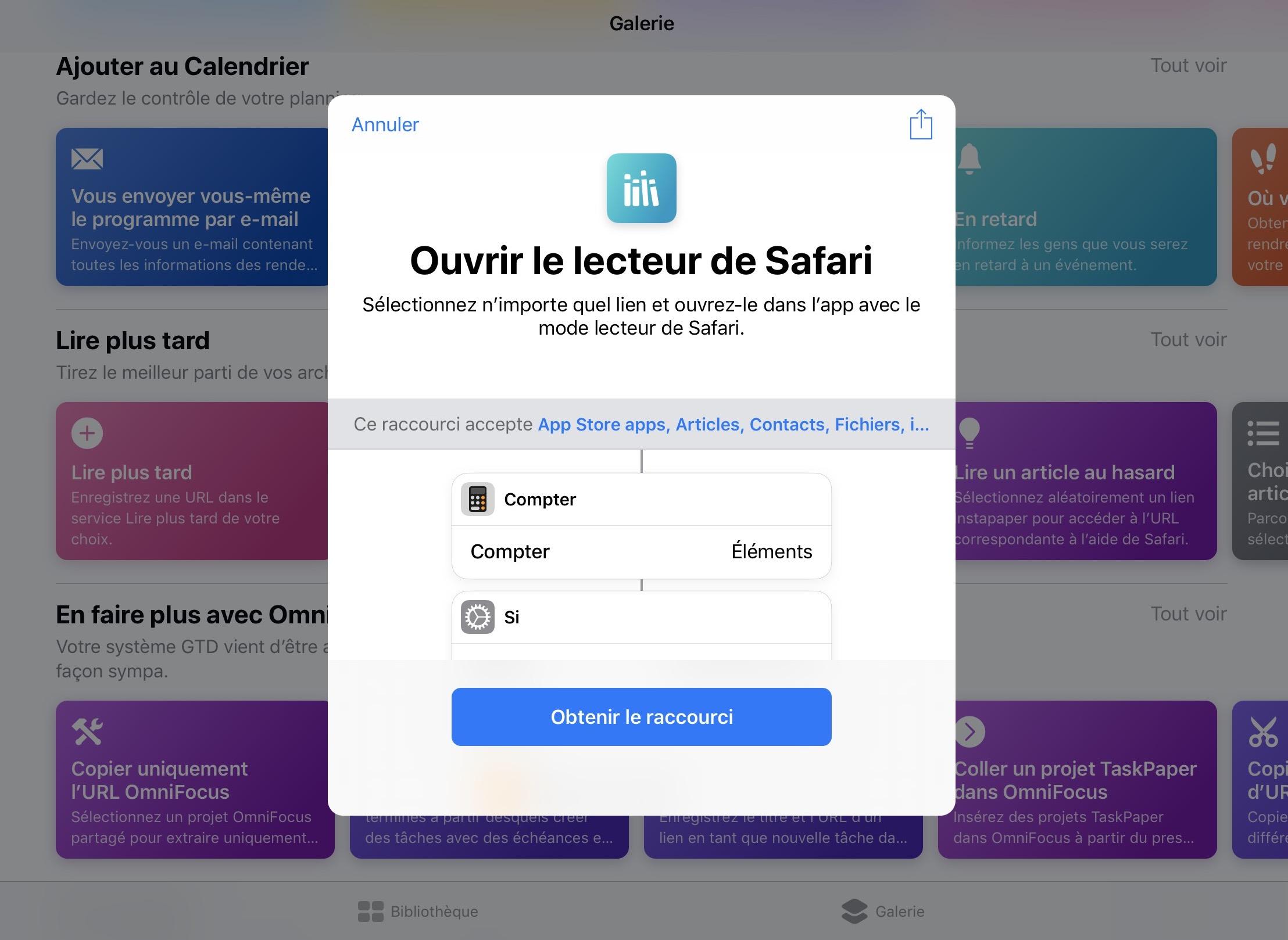 Mise à jour de l'app «Raccourcis» avec de nouvelles fonctions météo, alarme, etc. 1