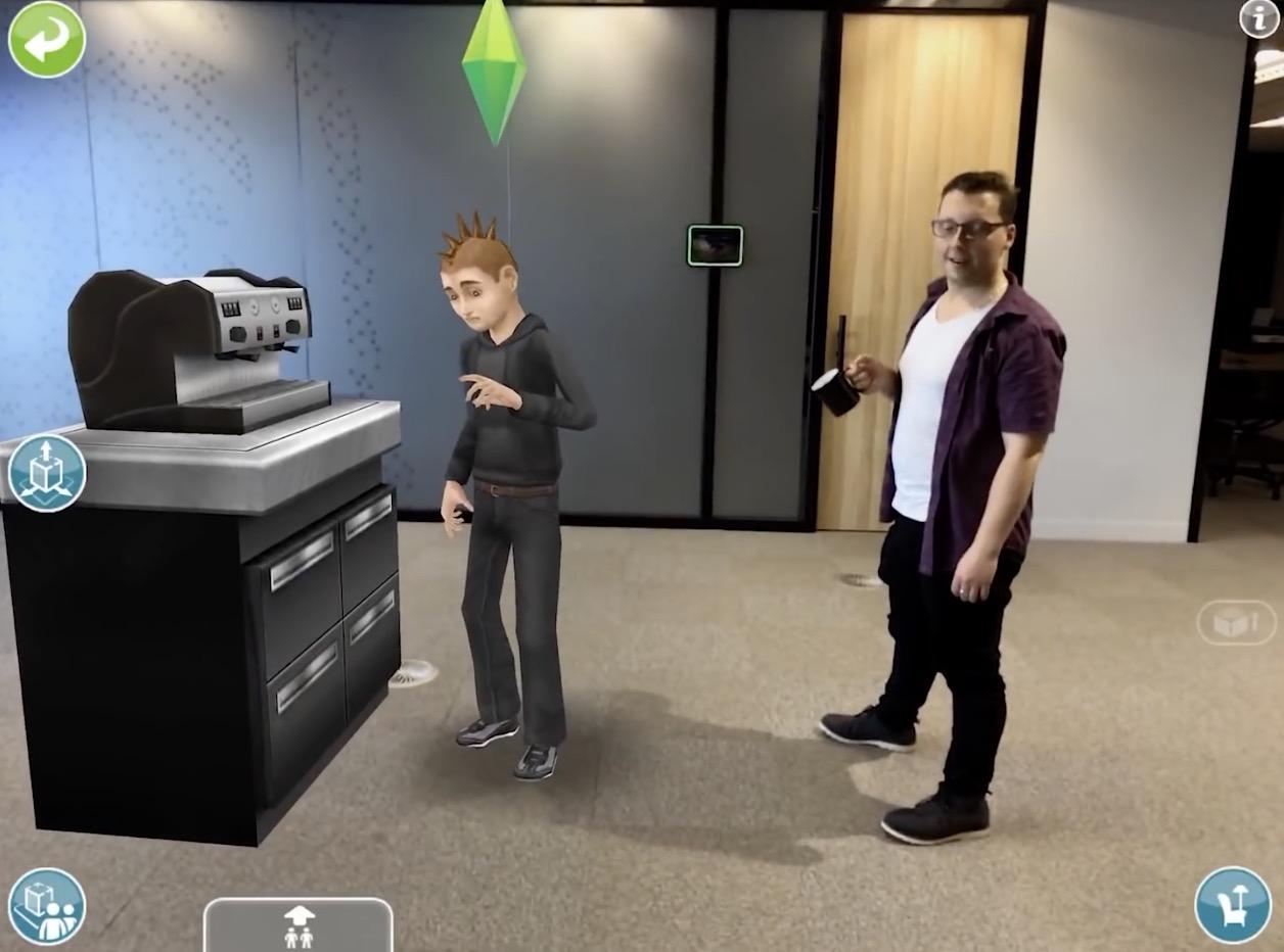 Les Sims prennent vie en Réalité Augmentée 1