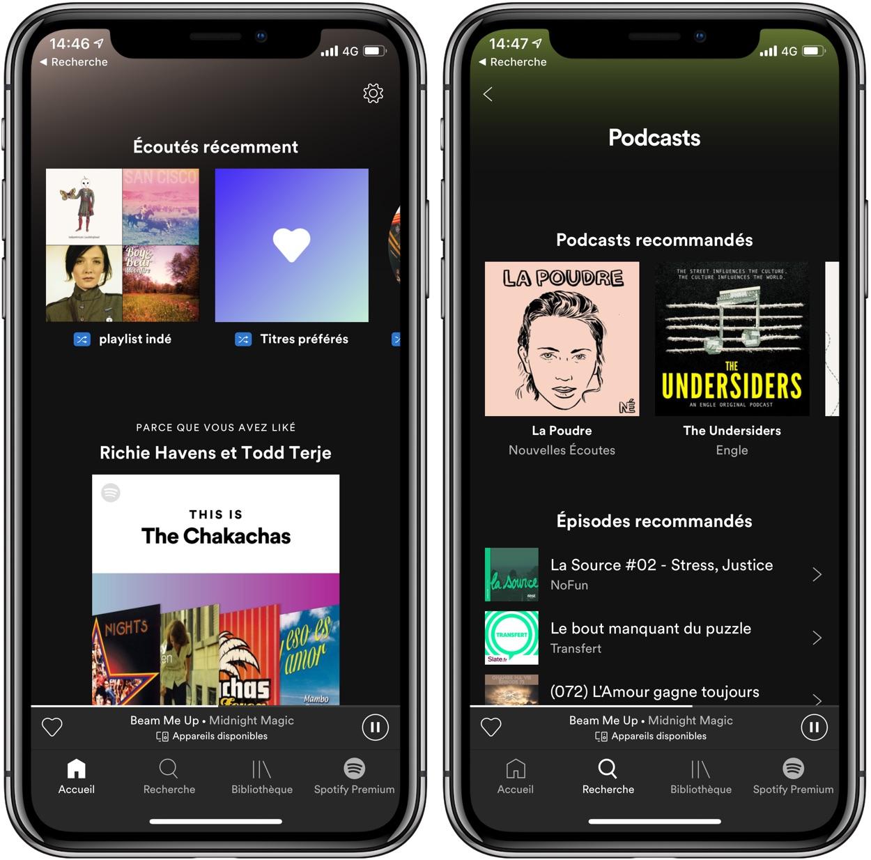Spotify revoit l'interface de son appli mobile : les nouveautés 1