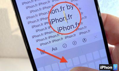 Vidéo astuce : comment transformer le clavier iPhone en Trackpad avec ou sans 3D Touch ! 3