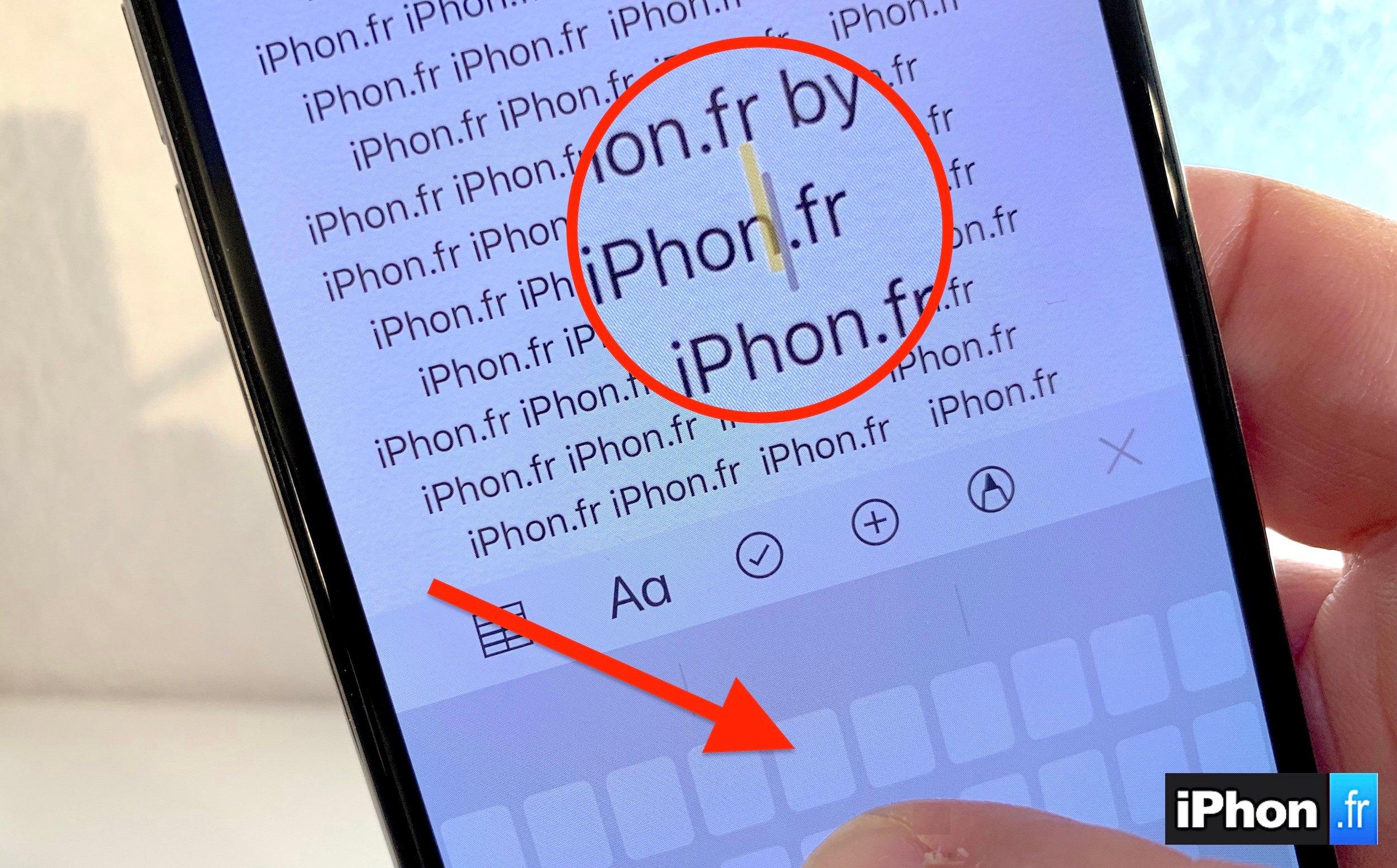 Vidéo astuce : comment transformer le clavier iPhone en Trackpad avec ou sans 3D Touch ! 1