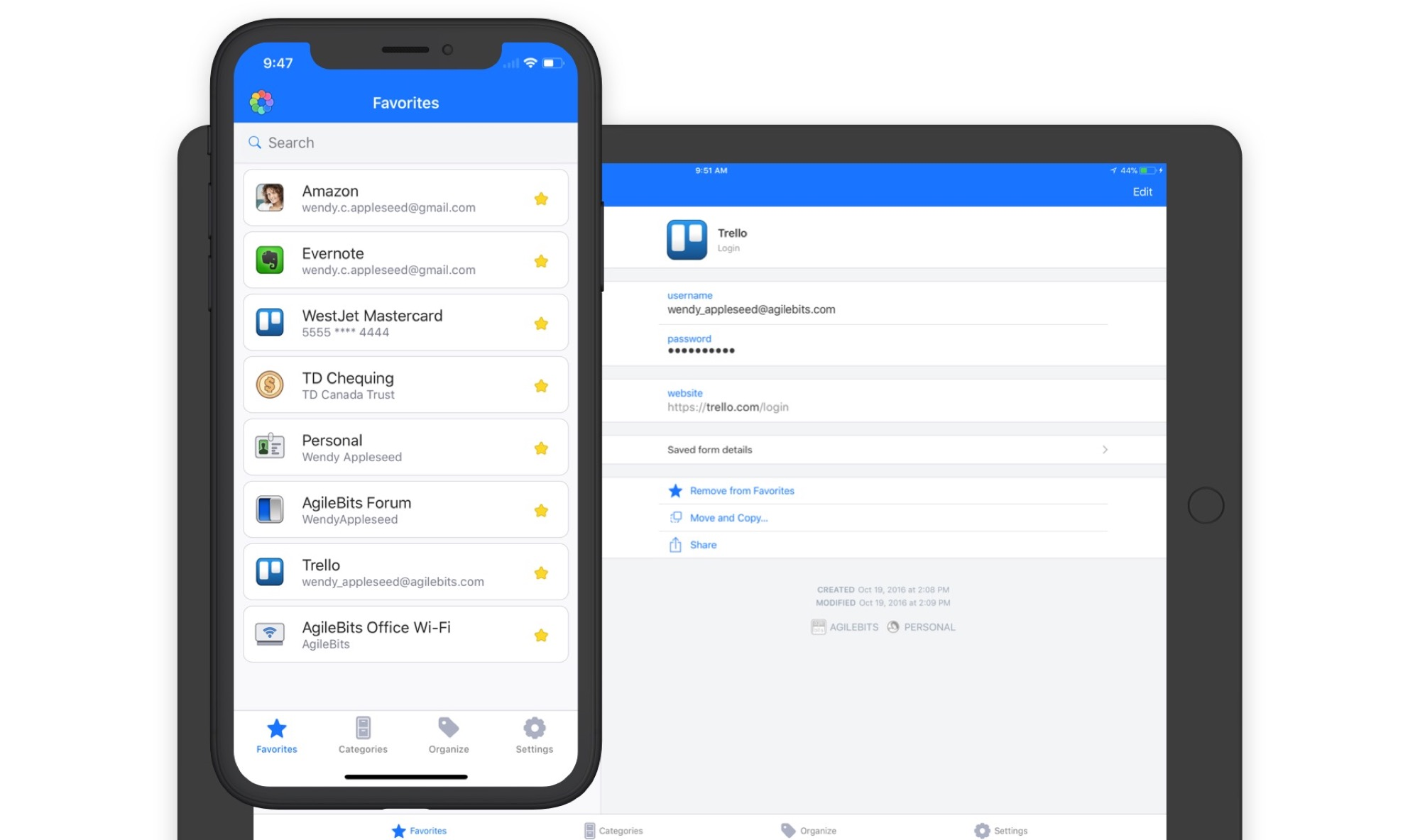 1Password app iOS