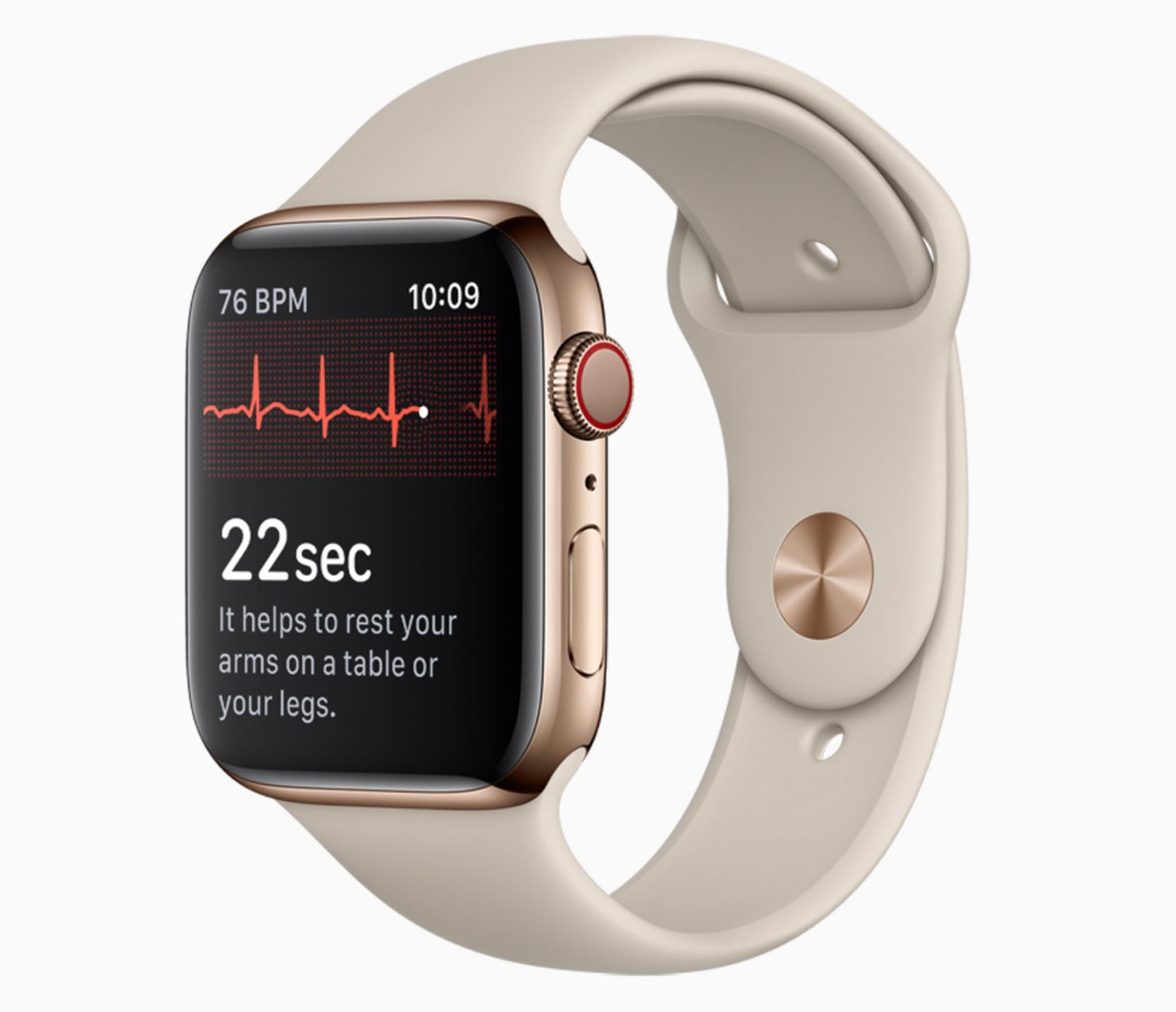 (MàJ) La mise à jour watchOS 5.1.2 est disponible : avec l'électrocardiogramme, alertes arythmie et autres nouveautés 1