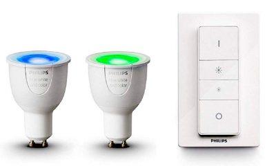 Promos kits Hue : des kits d'ampoules couleurs, blanches et spots pour étendre son installation moins cher ! 9