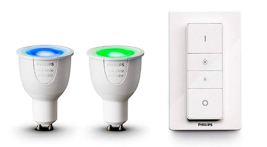 Promos kits Hue : des kits d'ampoules couleurs, blanches et spots pour étendre son installation moins cher ! 1