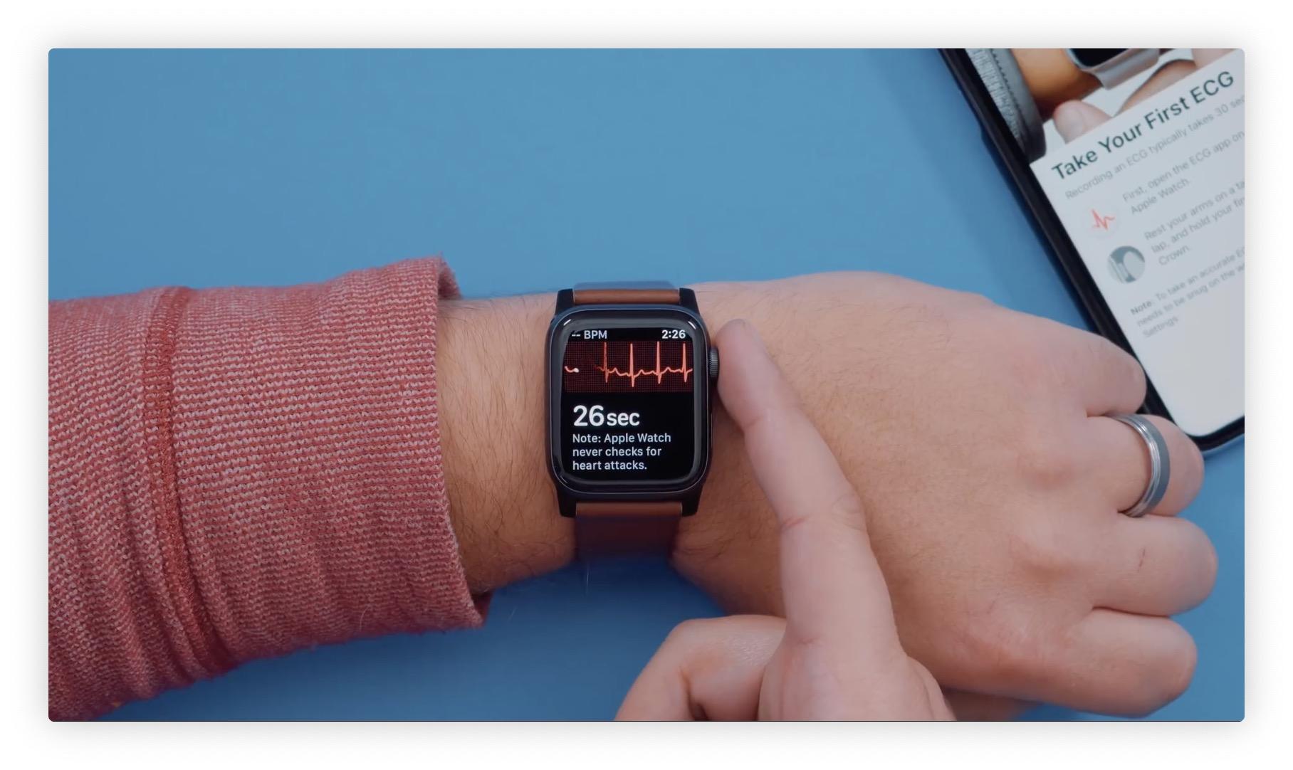 Vidéo : fonctionnement de la mesure d'électrocardiogramme avec l'Apple Watch Séries 4 1