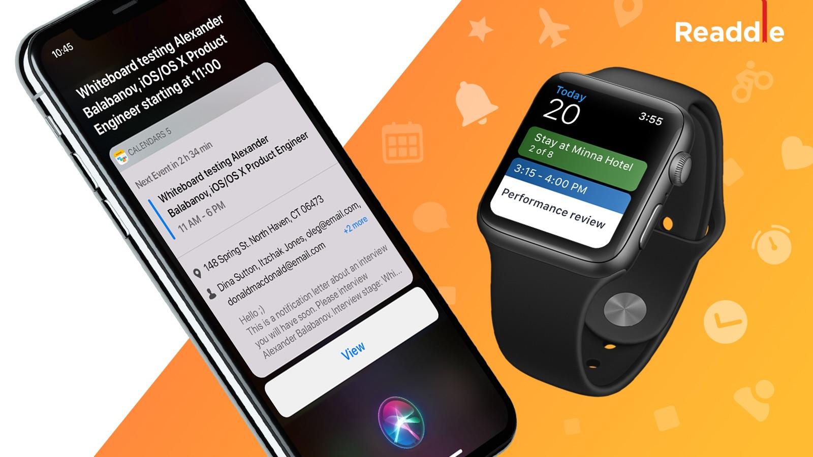 Des nouveautés pour Calendars 5 : raccourcis Siri et appli Apple Watch (MàJ) 1