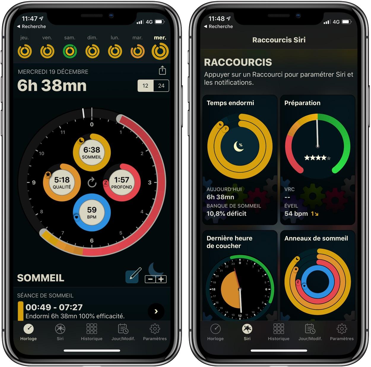 Suivi heures de sommeil iOS 12 et Apple Watch