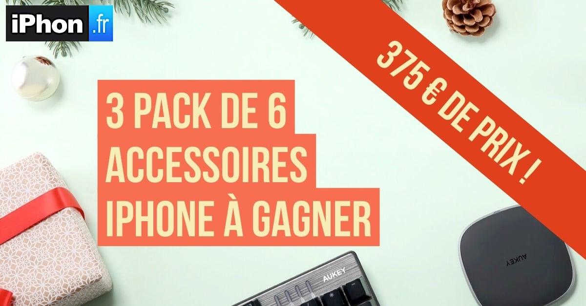MàJ gagnants  - Grand jeu de Noël iPhon.fr : 3 lots de 125 € d'accessoires iPhone à gagner ici avec Aukey ! 1