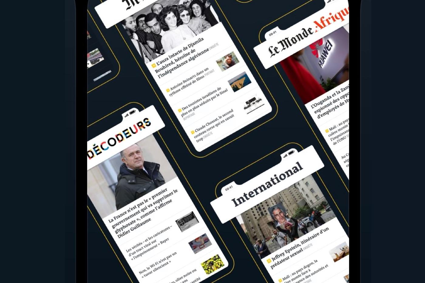 Le Monde app iOS