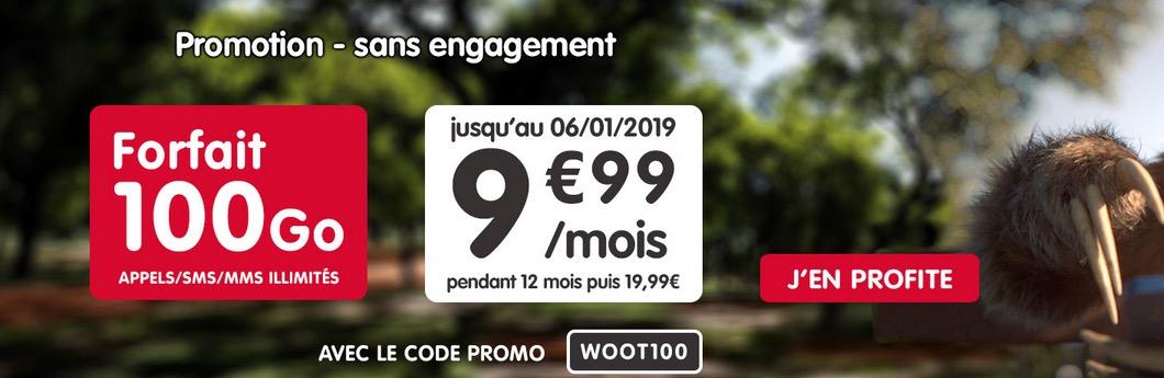 Nouvelle promo : forfait NRJ mobile 100 Go en série limitée à 9,99 € par mois 1