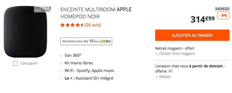 Rare : l'enceinte active HomePod d'Apple moins chère actuellement ! 1