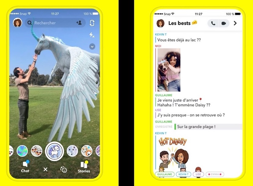 Snaptchat app iOS
