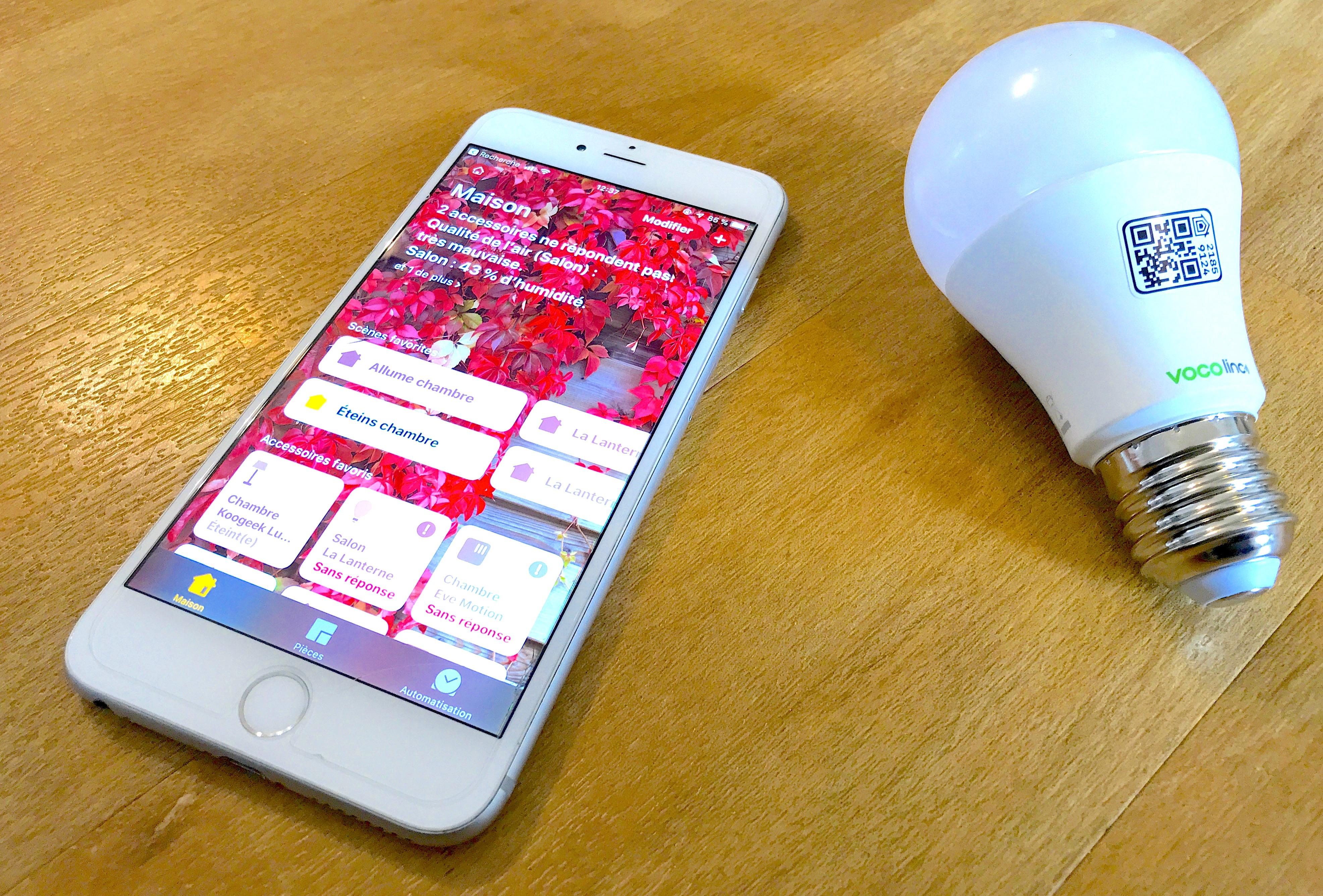 Avant son test, l'ampoule connectée Vocolinc en photos : compatible HomeKit et enceintes intelligentes 1