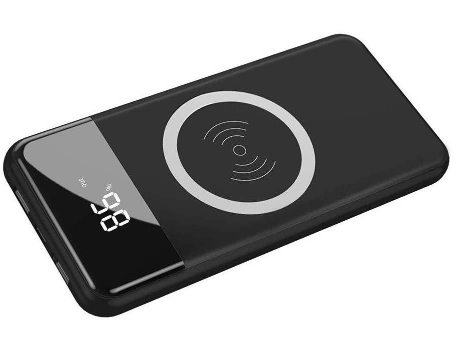 Promos flash : batterie 10 000 mAh avec recharge sans-fil Qi et afficheur numérique de charge à 21 € seulement et autre offre 12 000 mAh 1