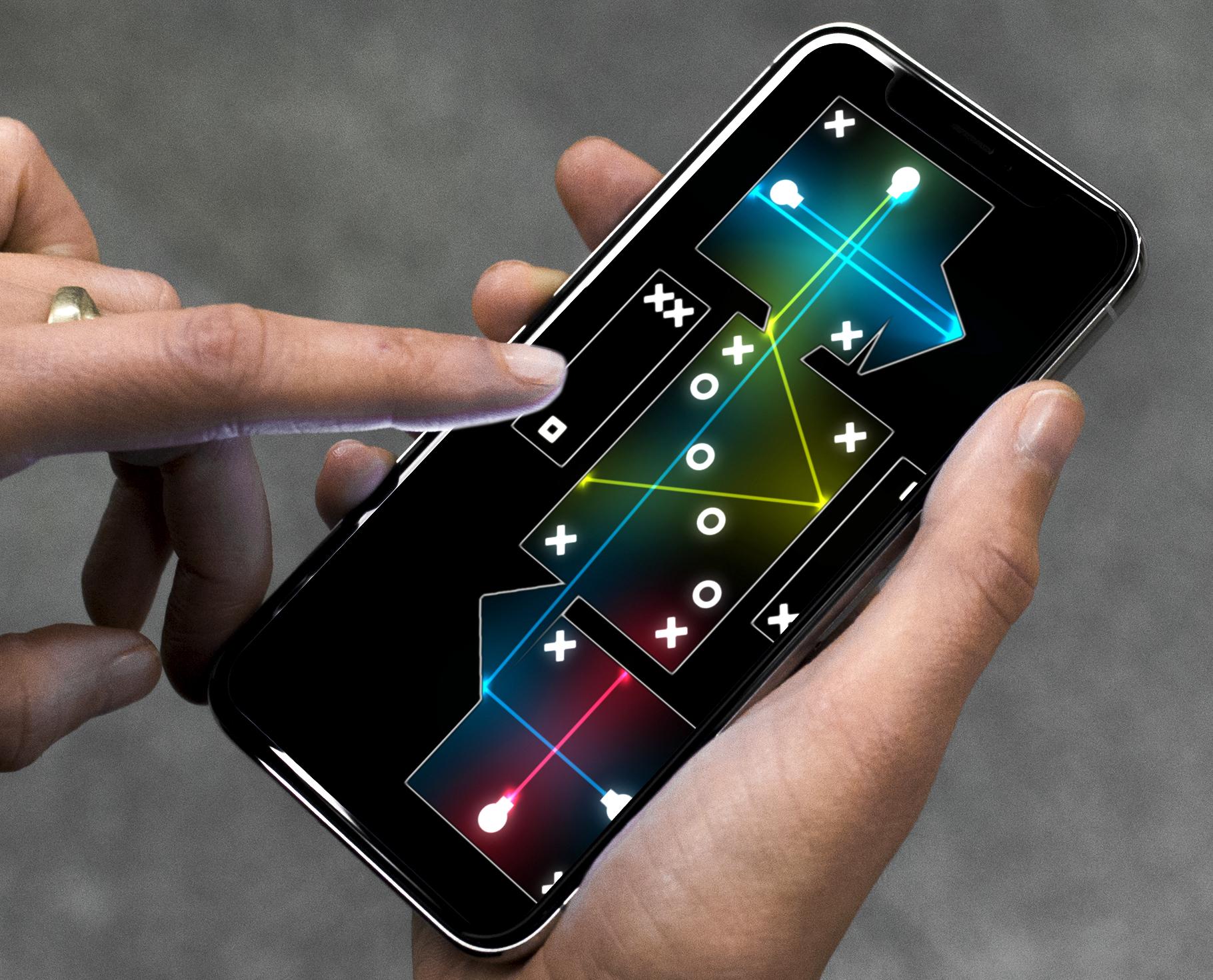 Entre ombres et lumières, guidez chaque laser vers la bonne cible, dans Blask, nouveau jeu iPhone, iPad 1