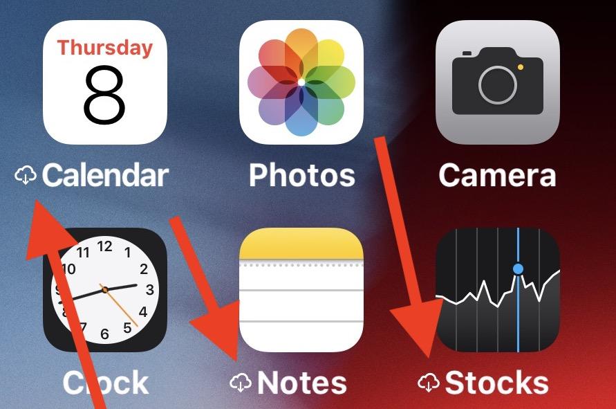 C'est quoi le symbole nuage à côté du nom d'une app iOS ? Que faire pour le supprimer ? 1