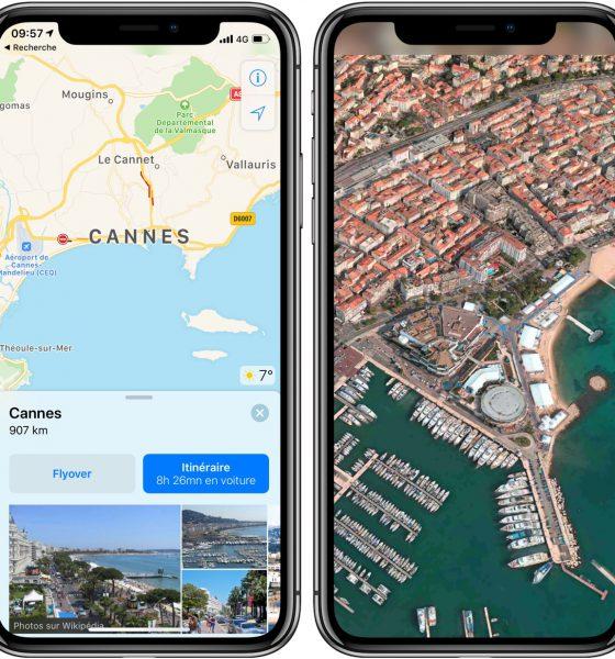 Plusieurs villes françaises reçoivent la vue 3D Flyover dans l'app Plans sur iPhone et iPad 2