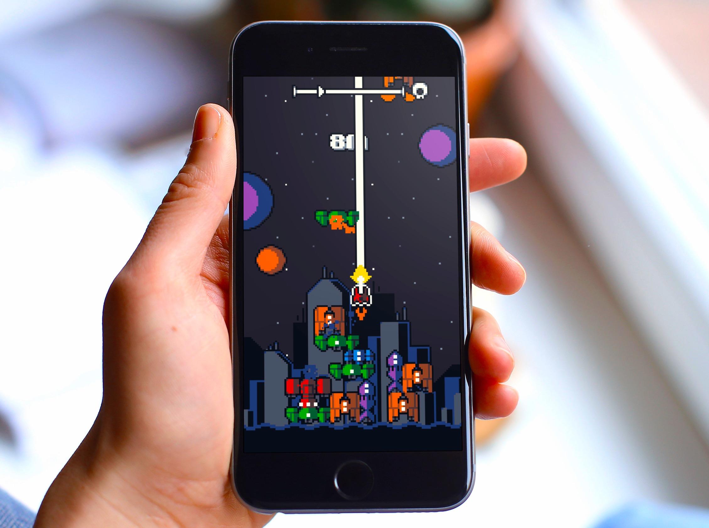 Galaxy Stack : Les aliens débarquent dans un mix de shooter rétro et de Tetris sur iOS (Màj) 1